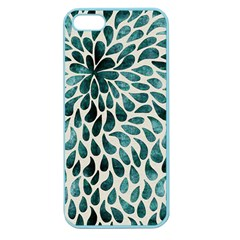 Teal Abstract Swirl Drops Apple Seamless Iphone 5 Case (color)