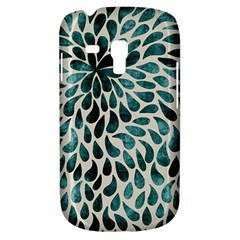 Teal Abstract Swirl Drops Samsung Galaxy S3 Mini I8190 Hardshell Case by snowwhitegirl