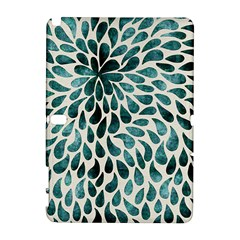 Teal Abstract Swirl Drops Samsung Galaxy Note 10 1 (p600) Hardshell Case