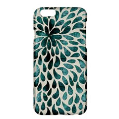 Teal Abstract Swirl Drops Apple Iphone 6 Plus/6s Plus Hardshell Case