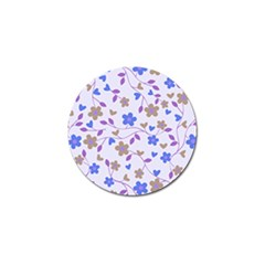 Blue Vintage Flowers Golf Ball Marker (4 Pack)