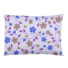 Blue Vintage Flowers Pillow Case (two Sides)