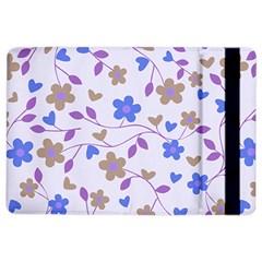 Blue Vintage Flowers Ipad Air 2 Flip
