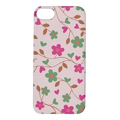 Pink Vintage Flowers Apple Iphone 5s/ Se Hardshell Case