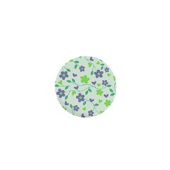 Green Vintage Flowers 1  Mini Buttons