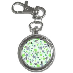 Green Vintage Flowers Key Chain Watches