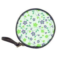 Green Vintage Flowers Classic 20 Cd Wallets