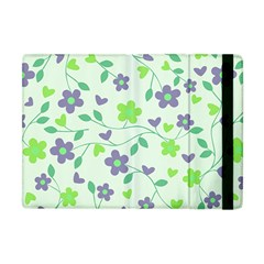 Green Vintage Flowers Apple Ipad Mini Flip Case