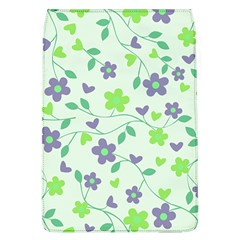 Green Vintage Flowers Removable Flap Cover (l)