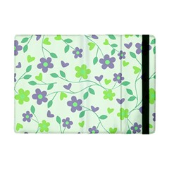Green Vintage Flowers Ipad Mini 2 Flip Cases by snowwhitegirl