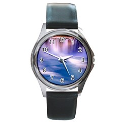 Waterfall Round Metal Watch