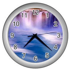 Waterfall Wall Clock (silver)