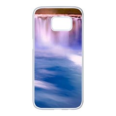Waterfall Samsung Galaxy S7 Edge White Seamless Case by snowwhitegirl