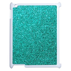 Aqua Glitter Apple Ipad 2 Case (white)