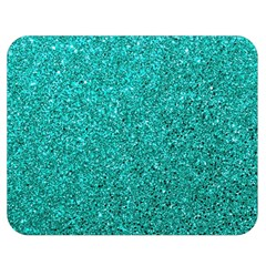 Aqua Glitter Double Sided Flano Blanket (medium)