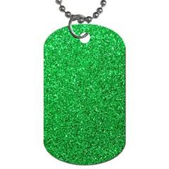 Green Glitter Dog Tag (one Side) by snowwhitegirl