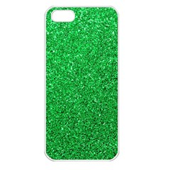 Green Glitter Apple Iphone 5 Seamless Case (white)