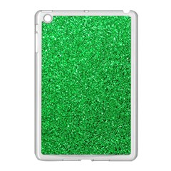 Green Glitter Apple Ipad Mini Case (white) by snowwhitegirl