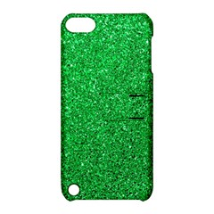 Green Glitter Apple Ipod Touch 5 Hardshell Case With Stand