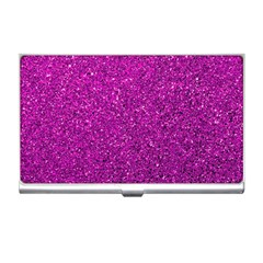 Pink  Glitter Business Card Holders