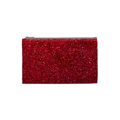 Red  Glitter Cosmetic Bag (small)
