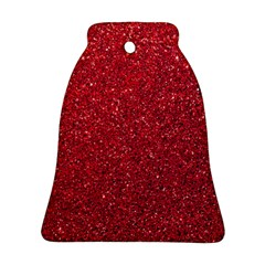 Red  Glitter Ornament (bell)