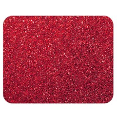 Red  Glitter Double Sided Flano Blanket (medium)  by snowwhitegirl