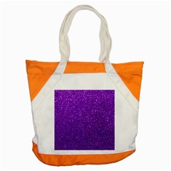 Purple  Glitter Accent Tote Bag