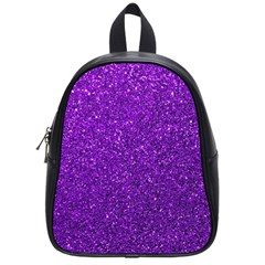 Purple  Glitter School Bag (small)