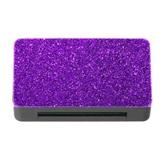 Purple  Glitter Memory Card Reader With Cf