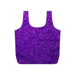 Purple  Glitter Full Print Recycle Bag (s)