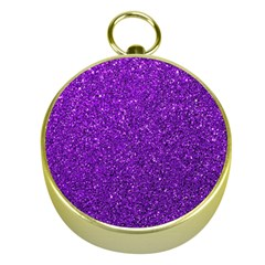 Purple  Glitter Gold Compasses
