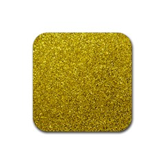 Gold  Glitter Rubber Coaster (square)