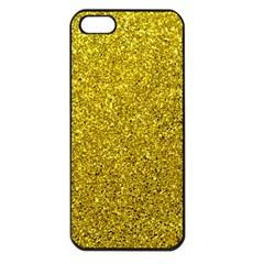 Gold  Glitter Apple Iphone 5 Seamless Case (black)
