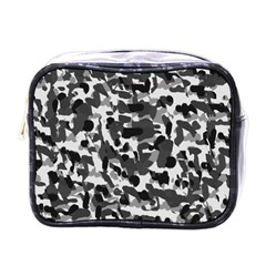 Grey Camo Mini Toiletries Bag (one Side) by snowwhitegirl