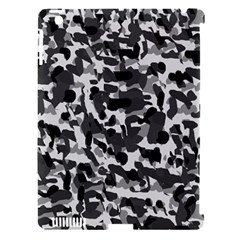 Grey Camo Apple Ipad 3/4 Hardshell Case (compatible With Smart Cover)