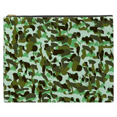 Brownish Green Camo Cosmetic Bag (xxxl)
