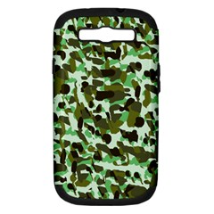 Brownish Green Camo Samsung Galaxy S Iii Hardshell Case (pc+silicone)