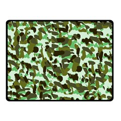 Brownish Green Camo Double Sided Fleece Blanket (small)