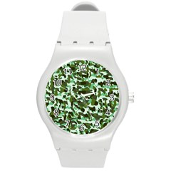 Green Camo Round Plastic Sport Watch (m)
