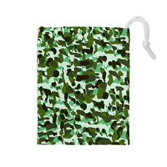 Green Camo Drawstring Pouch (large)