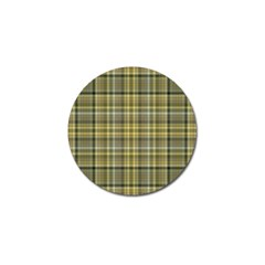 Yellow Plaid Golf Ball Marker (4 Pack)