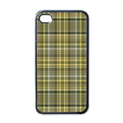 Yellow Plaid Apple Iphone 4 Case (black)