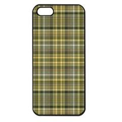 Yellow Plaid Apple Iphone 5 Seamless Case (black)