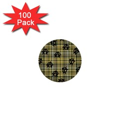 Yellow Plaid Anarchy 1  Mini Buttons (100 Pack)