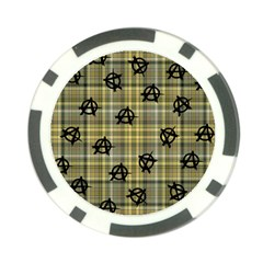 Yellow Plaid Anarchy Poker Chip Card Guard (10 Pack)