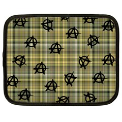 Yellow Plaid Anarchy Netbook Case (xl)