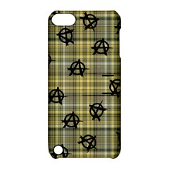 Yellow Plaid Anarchy Apple Ipod Touch 5 Hardshell Case With Stand