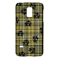 Yellow Plaid Anarchy Samsung Galaxy S5 Mini Hardshell Case