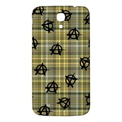 Yellow Plaid Anarchy Samsung Galaxy Mega I9200 Hardshell Back Case